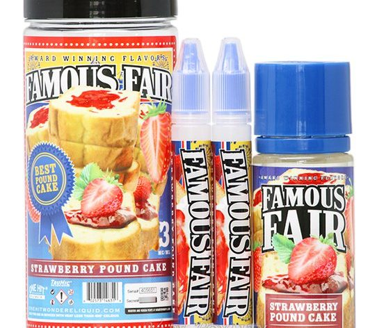 "DHLG5h76pi8 542x472 - FAMOUS FAIR BY ONE HIT WONDER ""STRAWBERRY POUND CAKE"" - 100ML 3MG"