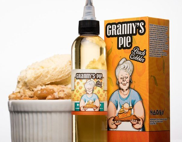 wAp4TztBbZI 604x472 - Granny's pie -Peach Cobbler 120ml 3 mg