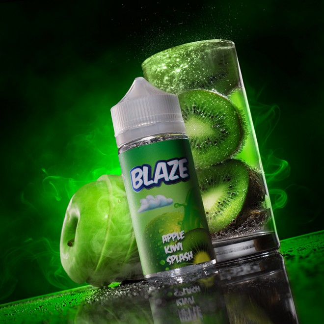 334A1070 660x660 - Blaze Apple Kiwi Splash 100 ml 3 mg