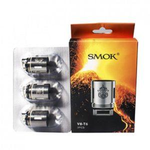SMOK TFV8 V8 T6 Sextuple Coil 3 PACK 1 300x300 - SMOK TFV8 V8-T6 0.2 ом - сменный испаритель