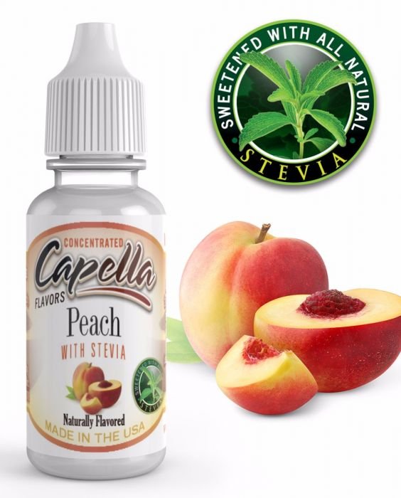 peach stevia 2017 1000x1241 03 1 - Capella Peach w/Stevia 13 ml