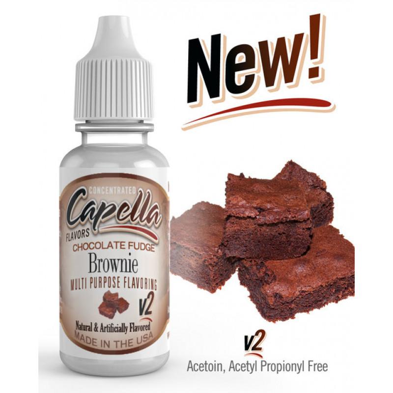 shokoladnyj brauni s pomadkoj v2 chocolate fudge brownie v2 aromatizator capella 189420104 800x800 - Capella Chocolate Fudge Brownie V2 13 ml