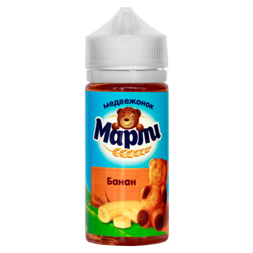 6 2 500x500 - Медвежонок Марли Банан 100 ml 3 mg