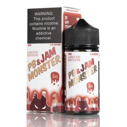 pb jam monster strawberry   jam monster liquids   100ml 416x416 - Jam Monster PB&Jam Monster Strawberry 100 ml 3 mg